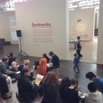 Ein Fokuspunkt, die Duckworks-Ausstellung mit der Arbeit von Ulrich Schröder